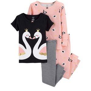 Carters 4 piece swan pajama set
